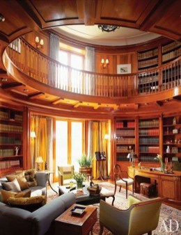 Wonderful Home Library Design Ideas To Make Your Home Look Fantastic 34