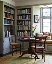 Wonderful Home Library Design Ideas To Make Your Home Look Fantastic 39