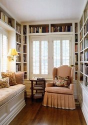 Wonderful Home Library Design Ideas To Make Your Home Look Fantastic 41