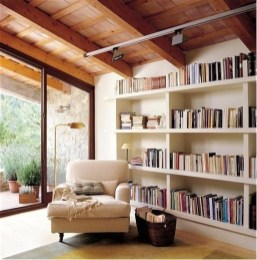 Wonderful Home Library Design Ideas To Make Your Home Look Fantastic 46