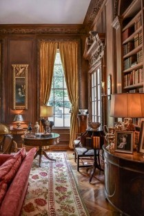 Wonderful Home Library Design Ideas To Make Your Home Look Fantastic 58