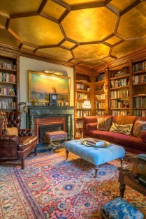 Wonderful Home Library Design Ideas To Make Your Home Look Fantastic 59
