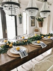Adorable Summer Dining Room Design Ideas 27