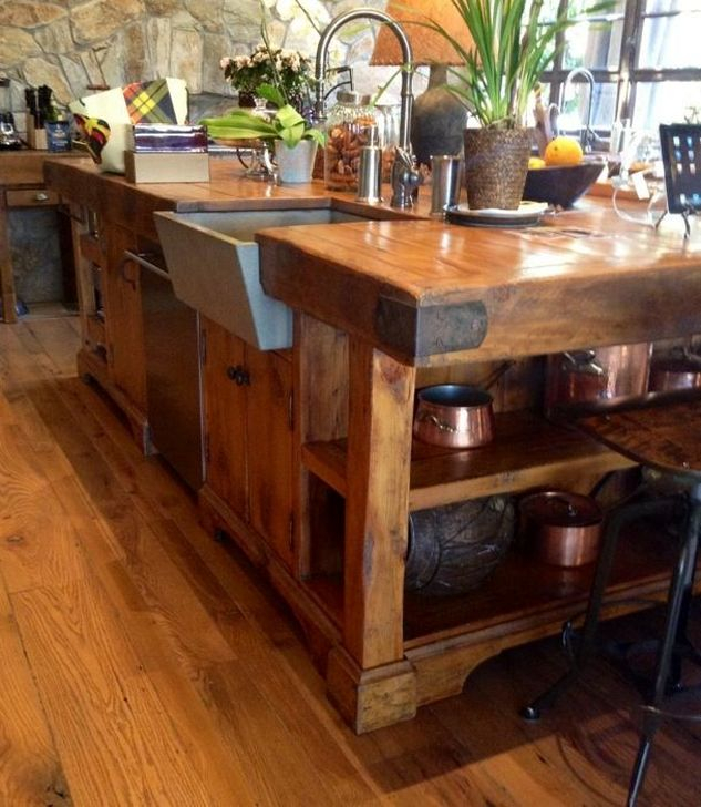 Classy Wooden Kitchen Island Ideas For Your Kitchen 01
