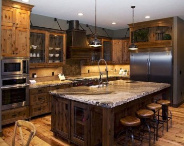 Classy Wooden Kitchen Island Ideas For Your Kitchen 03