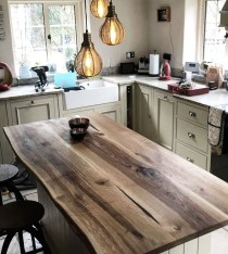Classy Wooden Kitchen Island Ideas For Your Kitchen 29