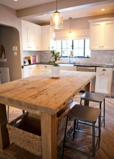 Classy Wooden Kitchen Island Ideas For Your Kitchen 32