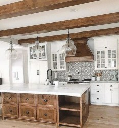 Classy Wooden Kitchen Island Ideas For Your Kitchen 40