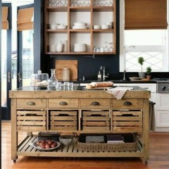 Classy Wooden Kitchen Island Ideas For Your Kitchen 48