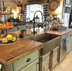 Magnificient Open Plan Kitchen With Feature Island Ideas 05