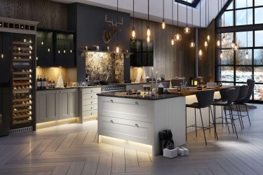 Magnificient Open Plan Kitchen With Feature Island Ideas 27