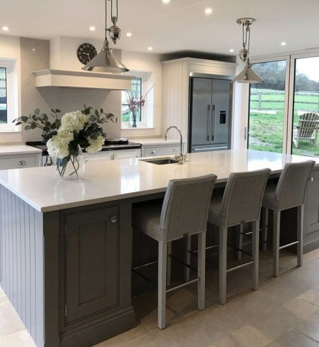 Magnificient Open Plan Kitchen With Feature Island Ideas 40