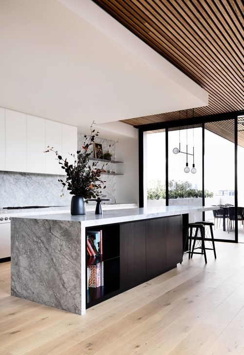 Magnificient Open Plan Kitchen With Feature Island Ideas 41