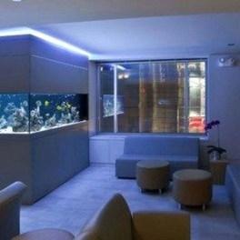 Modern Aquarium Partition Ideas For Living Room 04