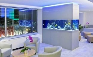 Modern Aquarium Partition Ideas For Living Room 08