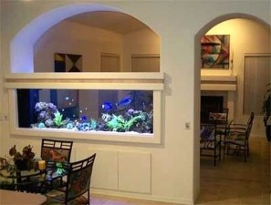Modern Aquarium Partition Ideas For Living Room 15