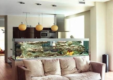 Modern Aquarium Partition Ideas For Living Room 16