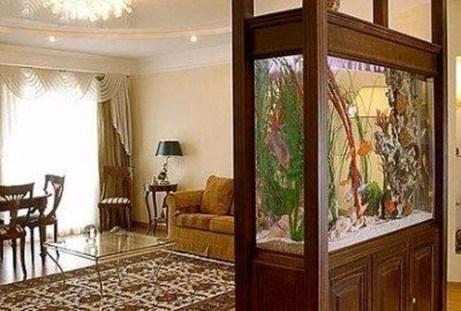 Modern Aquarium Partition Ideas For Living Room 17