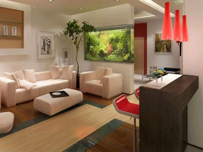Modern Aquarium Partition Ideas For Living Room 19