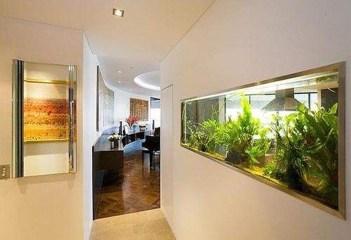 Modern Aquarium Partition Ideas For Living Room 22