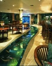 Modern Aquarium Partition Ideas For Living Room 26