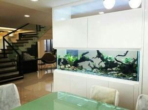 Modern Aquarium Partition Ideas For Living Room 30
