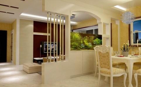 Modern Aquarium Partition Ideas For Living Room 31