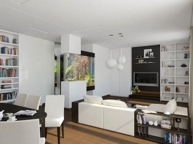 Modern Aquarium Partition Ideas For Living Room 32