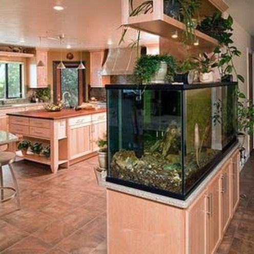 Modern Aquarium Partition Ideas For Living Room 35