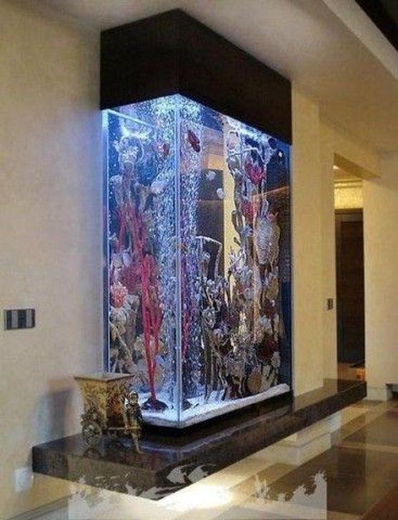 Modern Aquarium Partition Ideas For Living Room 36