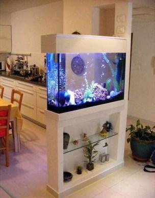 Modern Aquarium Partition Ideas For Living Room 42
