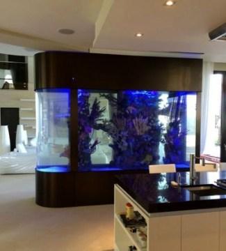 Modern Aquarium Partition Ideas For Living Room 45