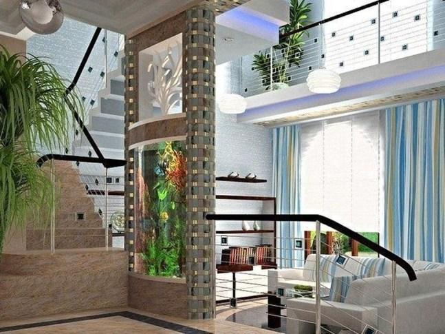 Modern Aquarium Partition Ideas For Living Room 48