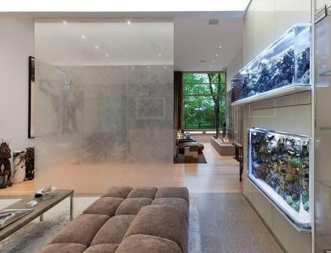 Modern Aquarium Partition Ideas For Living Room 50