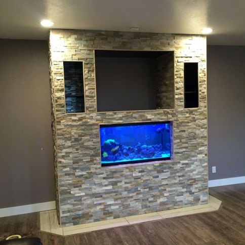 Modern Aquarium Partition Ideas For Living Room 51