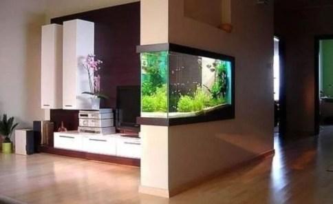 Modern Aquarium Partition Ideas For Living Room 52