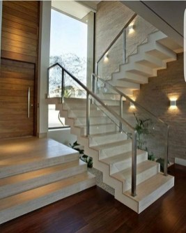 Perfect Glass Staircase Design Ideas 09