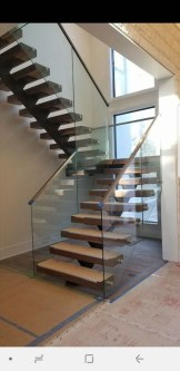 Perfect Glass Staircase Design Ideas 14