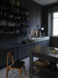 Stunning Dark Grey Kitchen Design Ideas 16
