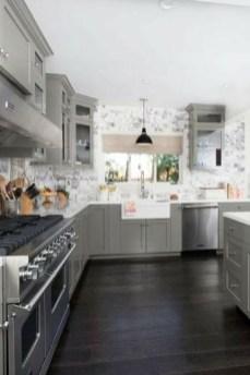Stunning Dark Grey Kitchen Design Ideas 24