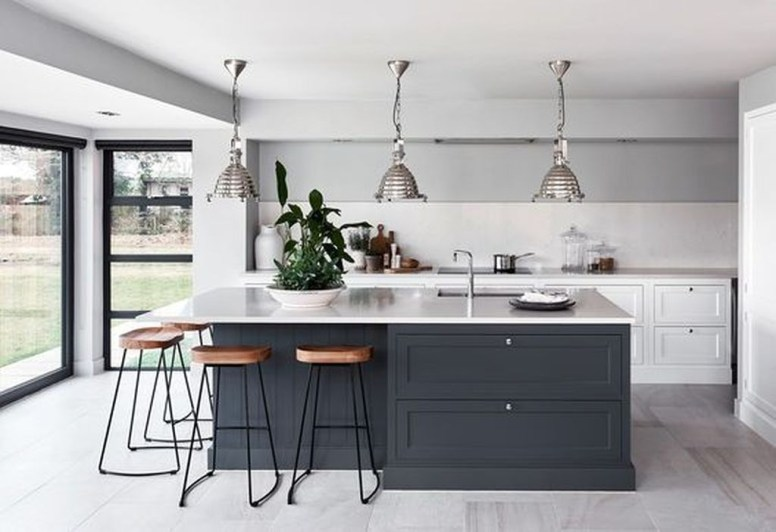 Stunning Dark Grey Kitchen Design Ideas 40