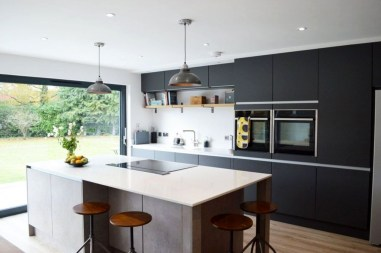 Stunning Dark Grey Kitchen Design Ideas 45