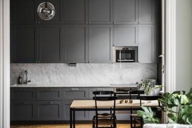 Stunning Dark Grey Kitchen Design Ideas 48