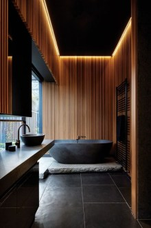 Elegant Wood Decor Ideas For Your Bathroom Design 10