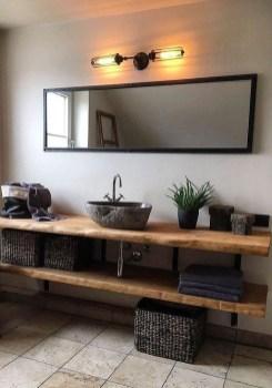 Elegant Wood Decor Ideas For Your Bathroom Design 26