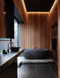 Elegant Wood Decor Ideas For Your Bathroom Design 32