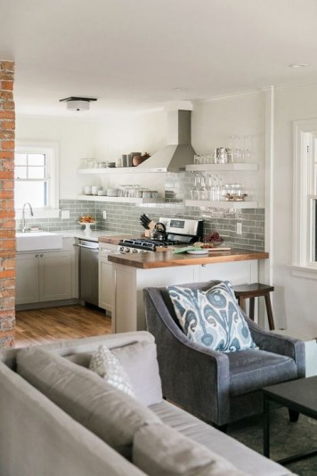 Inspiring Open Concept Kitchen You'll Totally Love 07