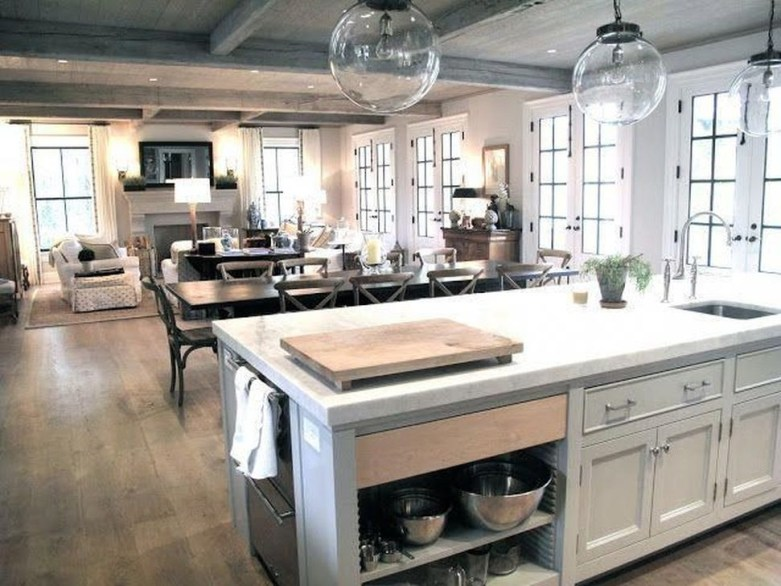 Inspiring Open Concept Kitchen You'll Totally Love 26