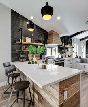 Inspiring Open Concept Kitchen You'll Totally Love 44