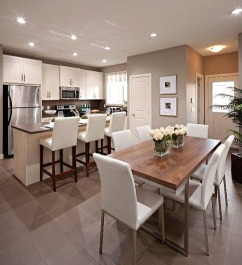 Minimalst Open Concept Kitchen And Dining Room Design Ideas 16